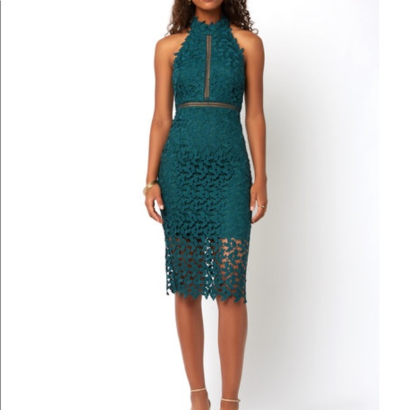 Bardot Gemma Green Lace Dress Small